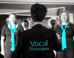 Vocal Dimension singing at the Ideal Home Show on Sunday 18th March 2018