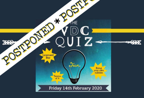 Unfortunately we are having to postpone our Quiz Night
